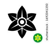 narcissus flower logo. black... | Shutterstock . vector #1692041350