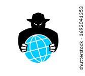world aggressor symbol. black... | Shutterstock . vector #1692041353