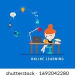 online learning. e learning... | Shutterstock .eps vector #1692042280