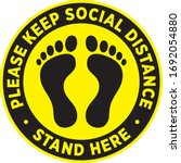 social distancing signage or... | Shutterstock .eps vector #1692054880