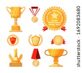 first place awards set.... | Shutterstock . vector #1692083680