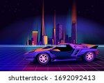 retro future. 80s style sci fi...   Shutterstock .eps vector #1692092413