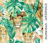 Watercolor Exotic Wildlife...