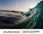 Huge Dark Green Wave Breaking...
