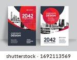 corporate book cover design... | Shutterstock .eps vector #1692113569
