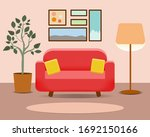 living room interior with sofa | Shutterstock .eps vector #1692150166