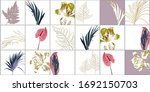 floral tile with tropical... | Shutterstock .eps vector #1692150703