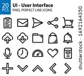 ui user interface line icons...