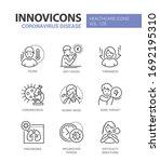 coronavirus disease   line... | Shutterstock .eps vector #1692195310