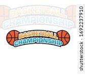 basketball logo and icon vector ... | Shutterstock .eps vector #1692237910
