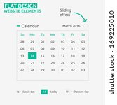 calendar flat design   website...