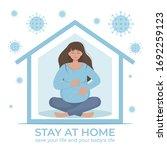 coronavirus concept. stay at...   Shutterstock .eps vector #1692259123