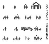 people family pictogram. set... | Shutterstock .eps vector #169226720