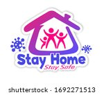 stay home  stay safe social... | Shutterstock .eps vector #1692271513