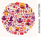 happy halloween background | Shutterstock .eps vector #169227584