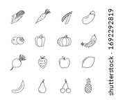 set of flat fruits and... | Shutterstock .eps vector #1692292819