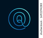q letter logo in a circle....   Shutterstock .eps vector #1692294283