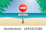 illustration of a beach with no ... | Shutterstock .eps vector #1692313180