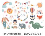 kids elements collection ... | Shutterstock .eps vector #1692341716