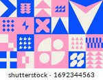 abstract pink and blue pattern. ... | Shutterstock .eps vector #1692344563