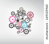 abstract cogs   gears | Shutterstock .eps vector #169235960