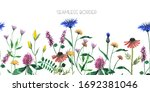 watercolor floral seamless... | Shutterstock . vector #1692381046