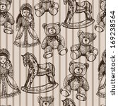 Pattern With Vintage Toys....