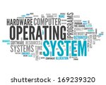 word cloud with operating... | Shutterstock . vector #169239320
