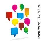 abstract illustration of speech ... | Shutterstock . vector #169240226