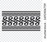 tattoo arm band tattoo hand...   Shutterstock .eps vector #1692406759