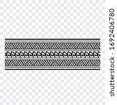 polynesian band tribal tattoo.... | Shutterstock .eps vector #1692406780