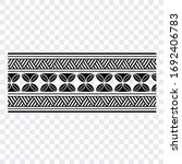 polynesian band tribal tattoo.... | Shutterstock .eps vector #1692406783
