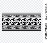 polynesian band tribal tattoo.... | Shutterstock .eps vector #1692406816