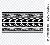 polynesian band tribal tattoo.... | Shutterstock .eps vector #1692406819