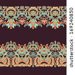 set of seamless laced ribbons   Shutterstock .eps vector #169240850