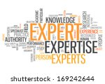 word cloud with expert related... | Shutterstock . vector #169242644