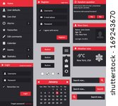 flat design ui   vertical menu  ...