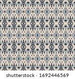 ikat geometric folklore... | Shutterstock .eps vector #1692446569