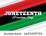 juneteenth freedom day. african ... | Shutterstock .eps vector #1692459703