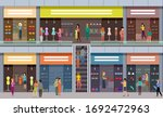 big mall. fashion shops. people ... | Shutterstock .eps vector #1692472963