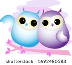 cute baby owl illustration...   Shutterstock .eps vector #1692480583