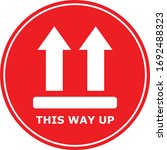 this way up icon handle with... | Shutterstock .eps vector #1692488323