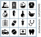 medical icons set | Shutterstock .eps vector #169249490