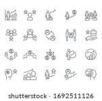 set of career related vector... | Shutterstock .eps vector #1692511126