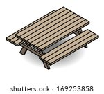 A Classic Wooden Park Bench  ...