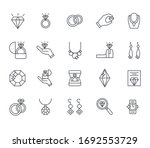 set of jewelry related vector...
