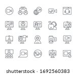 set of video call related...   Shutterstock .eps vector #1692560383