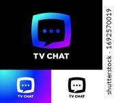 tv chat logo. chat emblem....
