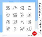 group of 16 modern outlines set ...   Shutterstock .eps vector #1692577759