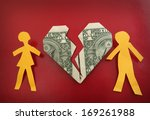Paper Couple On Broken Dollar...